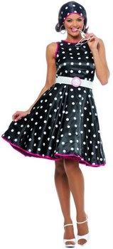 Hot 50's Black/White Polka Dot Dress - 50's Sock Hop Costumes - Candy Apple Costumes