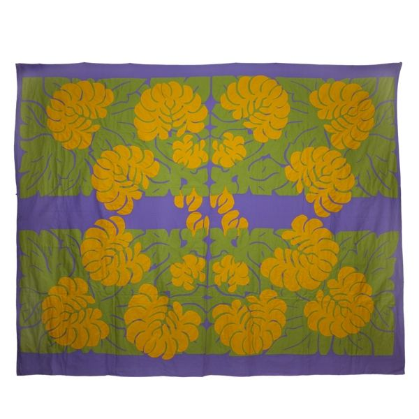 Cook Island Designs: Quilt (tivaevae) From The Cook Islands. The Design Of