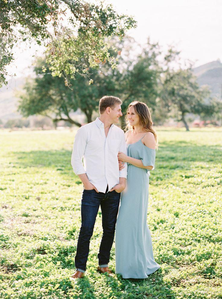 Engagement Session Ideas Pastel Blue Dress Film Engagement Session Engagement Picture Outfits Engagement Shoot Outfit Engagement Session
