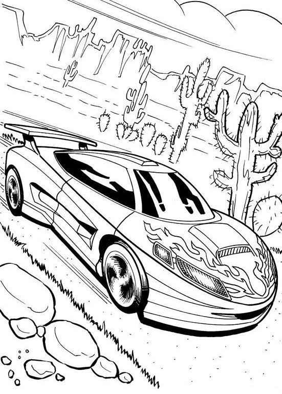 Racing Car Coloring Pages: Here is a beautiful 2-seater NASCAR coloring sheet. Your preschoolers will get a fun