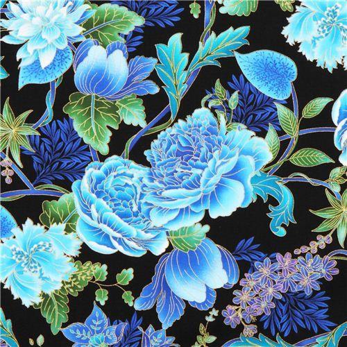 Black Flower Fabric Timeless Treasures Tree Of Life: 28 Best Stoffe Blumen Images On Pinterest