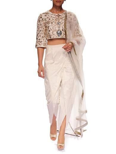 Turn heads this season by rocking Crop Top with Dhoti Pants. #LatestTrend…