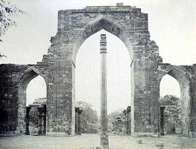 The iron pillar of Delhi. 1600 years old and 98% wrought iron and yet it has never rusted or decomposed.