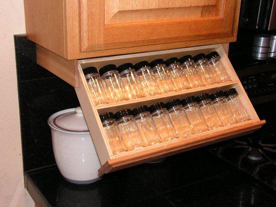 cabinet spice rack glass spice jars