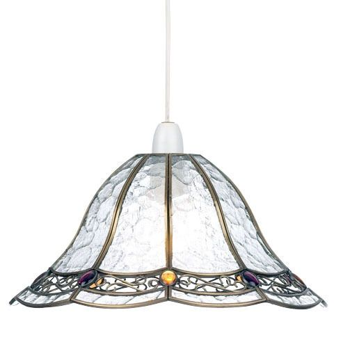 ENDON LIGHTING NON ELECTRIC GLASS & METAL CEILING PENDANT LIGHT 1217-AN
