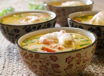 Tom Yam-suppe med sjøkreps og laks | Fru Timian