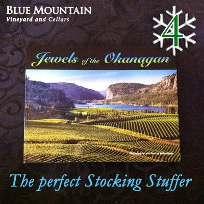 12 DAYS OF CHRISTMAS - Day 4: The perfect stocking stuffer.... Jewels of the Okanagan coffee-table book by Mike Biden!    To enter our 12 days of Christmas contest visit: http://www.bluemountainwinery.com/blog/12-days-of-christmas-with-blue-mountain   This glossy book showcases 80 pages of Mike's stunning photographs of the #Okanagan and features the iconic Blue Mountain Vineyard and Cellars view on the cover.