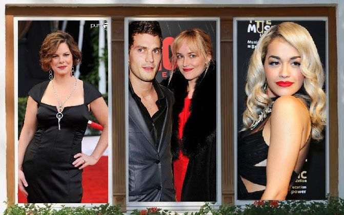 Jamie Dornan and Dakota Johnson with Marcia gay Harden and Rita Ora