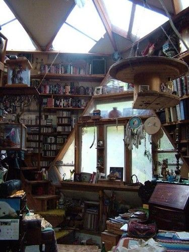treehouse sanctuary: Libraries, Spaces, Interior, Idea, Dream House, Book, Place, Room