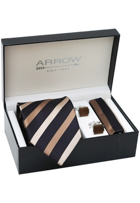 Combo of Tie, Pocket Square and Cuff Links Price: Rs.2499