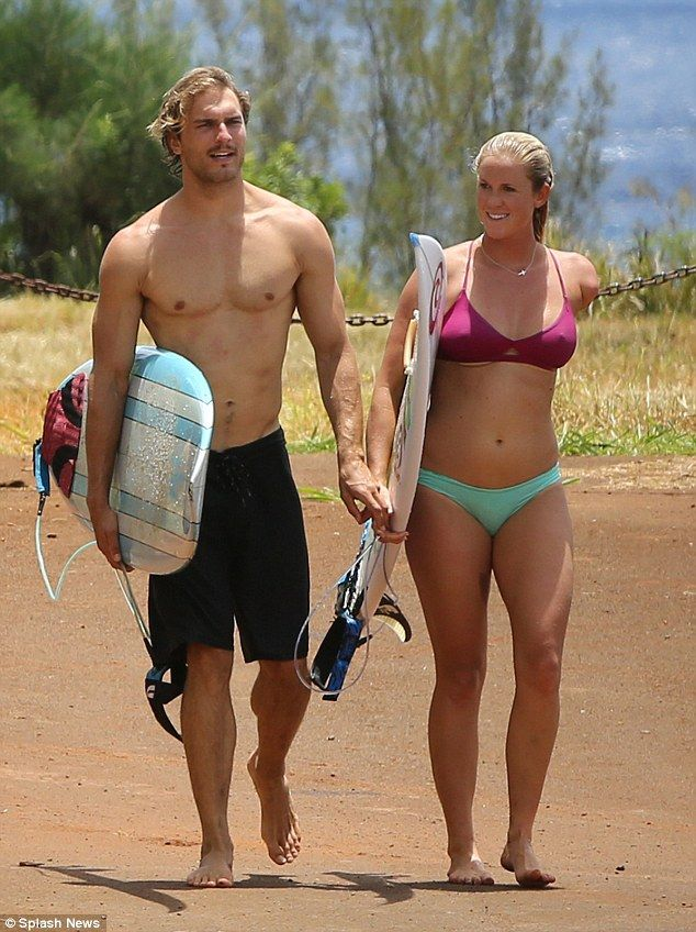 bethany hamilton and adam dirks surfing   The couple who surfs together! Bethany Hamilton and fiancé Adam Dirks ...