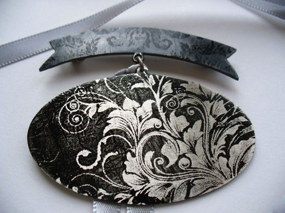 Sterling silver & Patina brooch