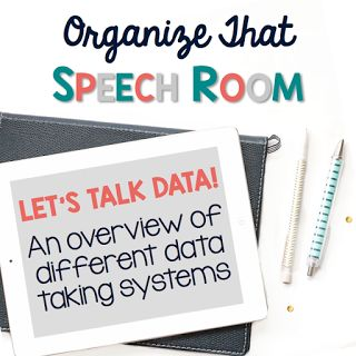 lots of tips for organizing how you take and track data for speech therapy