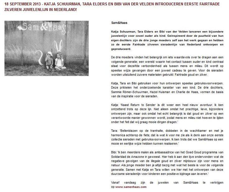 Maxhavelaar.nl September 2013 - Sam&Haas