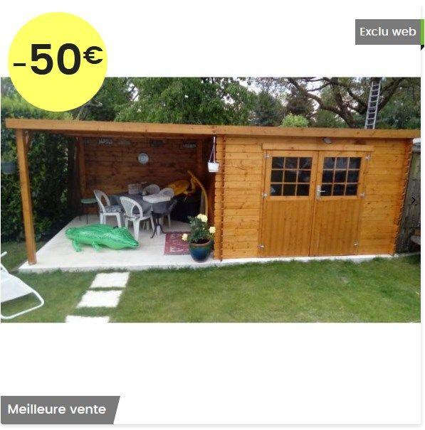 abri de jardin bois eden toit plat