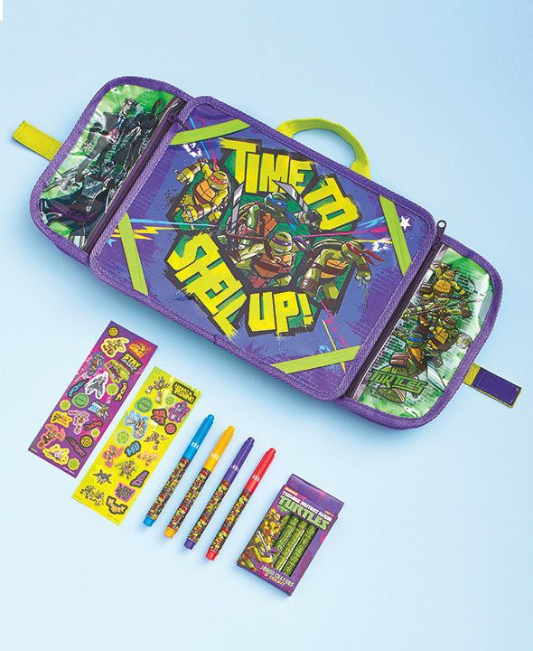 Travel Lap Desk Kids Art Set Age Mutant Ninja Turtles For Car Home Airplane