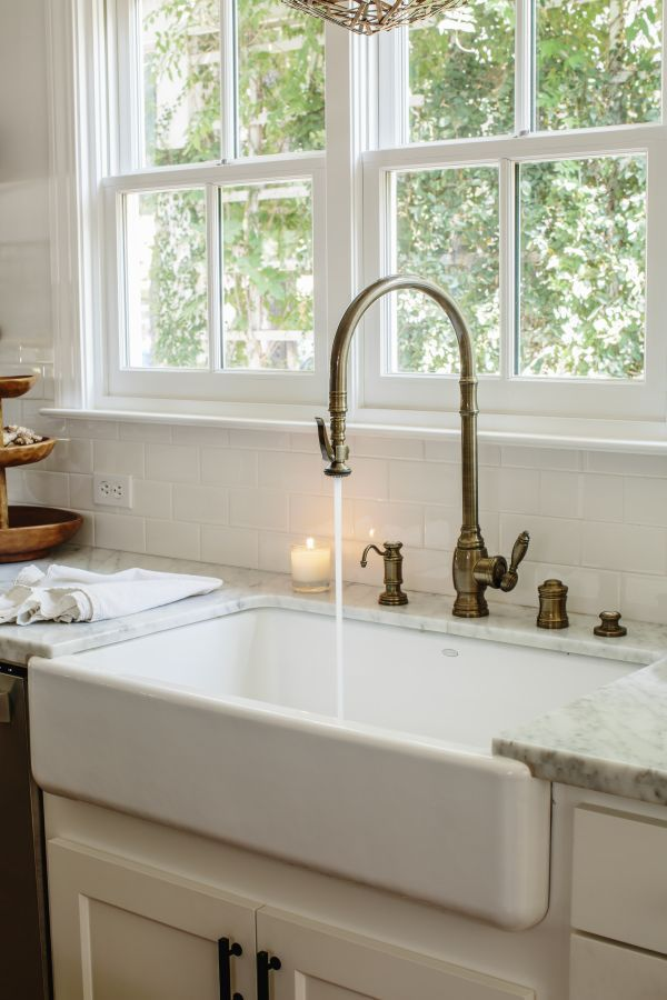 Water Efficient Kitchen Faucet Narrow Island Brass Pull Down Remodel