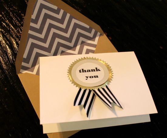 diy ribbon thank you cards