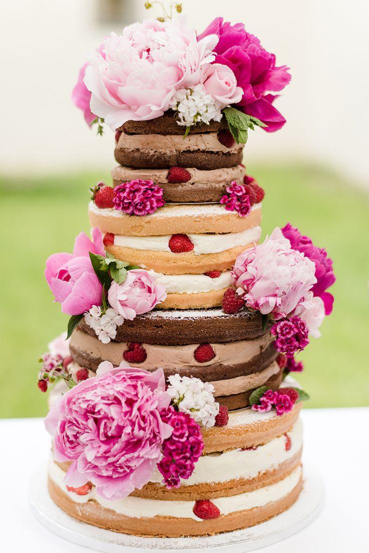 Naked Cake für die Hochzeit Torte: Naschwerk & Co. Foto: Rebecca Conte