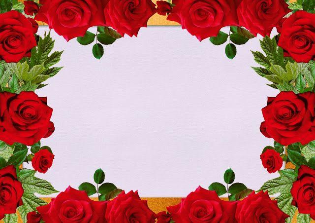 وورد ويب تحميل اطارات ورد Png للكتابة عليها جاهزة للصور Flower Border Gold Frame Floral Wreath