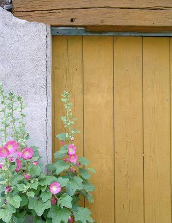 recette peinture naturelle : finition scandinave résistante, anti-UV, mate et profonde, elle décorera toutes les boiseries extérieures : volets, portes, banc, cabane…