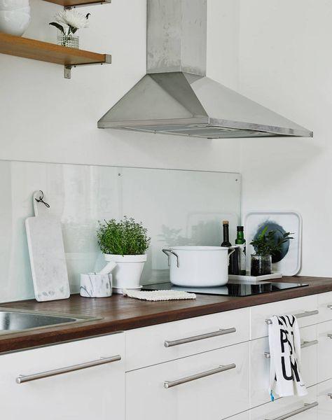 Die besten 25+ Glas spritzschutz für küchen Ideen auf Pinterest - küchen fliesenspiegel glas