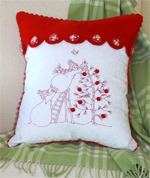 Red work for Christmas!: Redwork Embroidery Patterns, Trees Pillows, Sewing, Trees Patterns, Gifts Ideas, Crabappl Hill, Pillows Patterns, Christmas Trees, Crafts