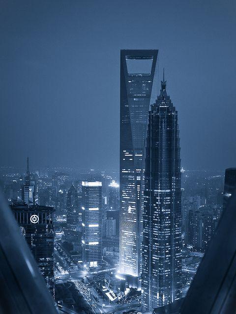 Oriental Pearl Tower et Shanghai World Financial Centre, seconde plus haute tour du monde.