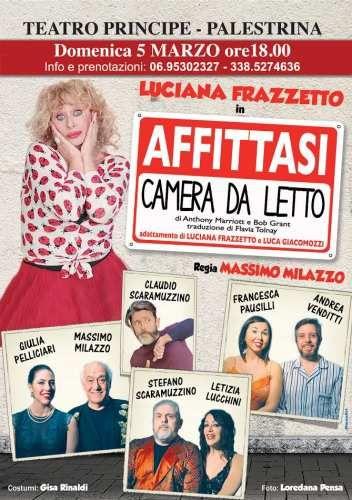 Lazio: #Palestrina al #Teatro Cinema Principe si ride con Affittasi camera da letto (link: http://ift.tt/2loDtLW )