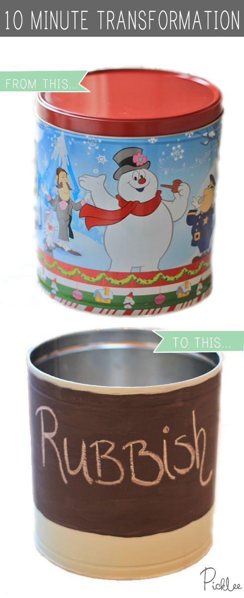 die besten 25 popcorn tins ideen auf pinterest selbermachen hund hundefutter eimer und. Black Bedroom Furniture Sets. Home Design Ideas
