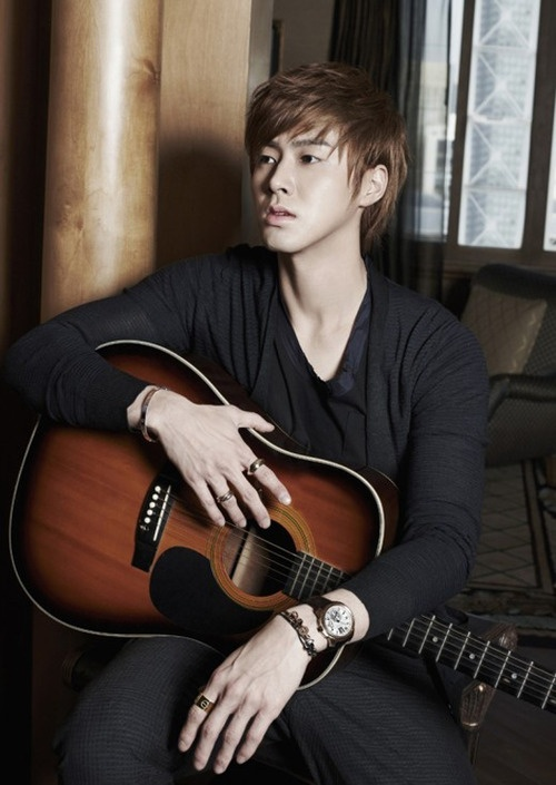 Keep calm and pretend you know how to play a guitar - Jung Yunho