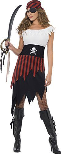 Smiffy's Women's Pirate Wench Costume - http://morehalloween.com/product/smiffys-womens-pirate-wench-costume/