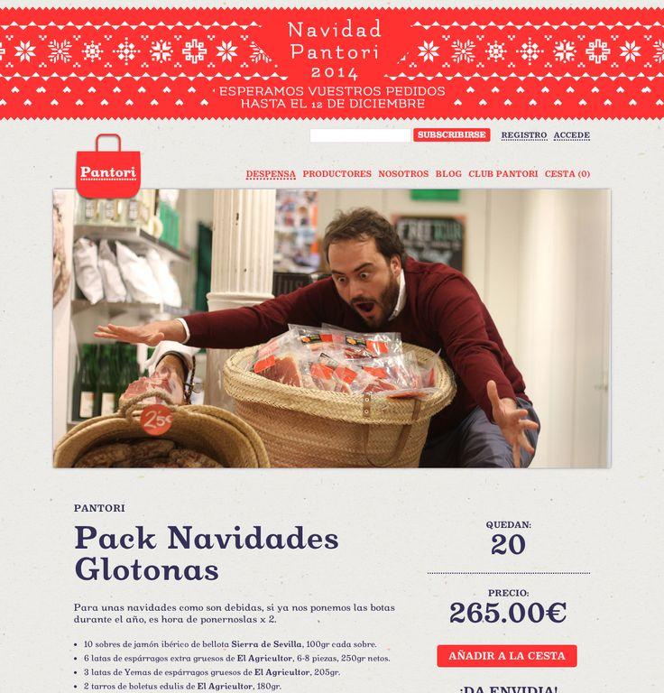 Pack Navidades Glotonas #Pantori #Pantori.es #food #Christmas #condedelamaza #web