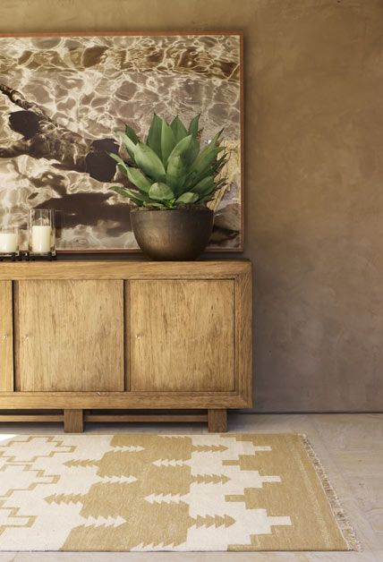 """Great wall color, Ralph Lauren Home Archives, """"Desert Modern"""" Living Room detail, 2012; """"Inspired by the vast beauty of the Western frontier"""""""