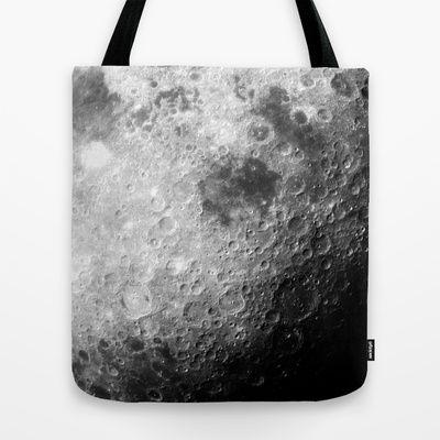 Moon Tote Bag - Available Here: http://society6.com/rapplatt/moon-zjr_bag#26=197