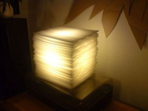 Stylish Lamp Made From Trash