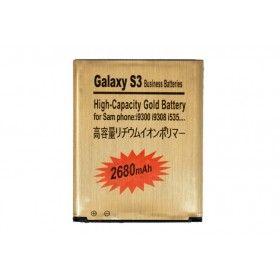 Batería Gold Extendida Samsung Galaxy S3 2680mAh Made in Japan http://www.tucargadorsolar.com/Baterias-para-moviles/Bateria-Gold-2850mah-Samsung-Galaxy-S-III-i9300.html