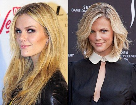 Who says a bikini model has to have long hair to be sexy? Not Brooklyn Decker! She reportedly said buh-bye to 10 inches of hair (!!!), and from the looks of that smile, it seems she doesn't miss em one bit. A modern bob like Brooklyn's—with loose, low-maintenance framing layers around the face—is just as sultry as any Rapunzel waves. Add texture to the cool do by scrunching damp hair with mousse, then letting it air-dry.