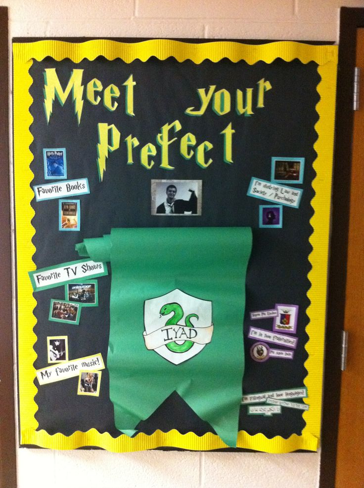 Harry Potter Classroom Decorations : Harry potter themed quot meet your ra board bulletin