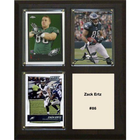 C & I Collectables NFL 8 inch x 10 inch Zack Ertz Philadelphia Eagles 3-Card Plaque