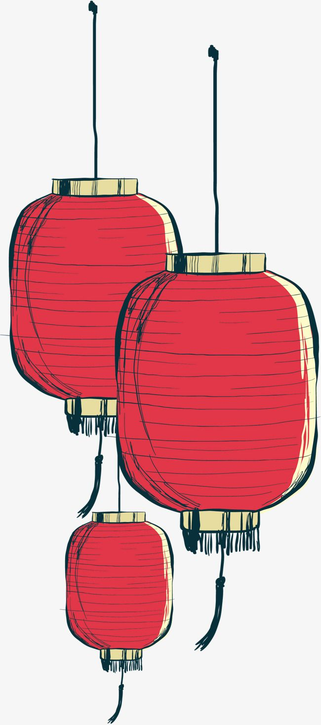 Hand Painted Chinese Lantern Vector Png Lantern Red Lantern Png Transparent Clipart Image And Psd File For Free Download Painted Paper Free Clip Art Lanterns