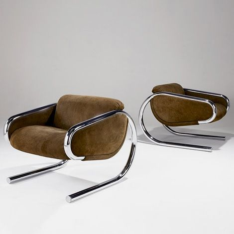 Share Harvey Probber Lounge Chairs