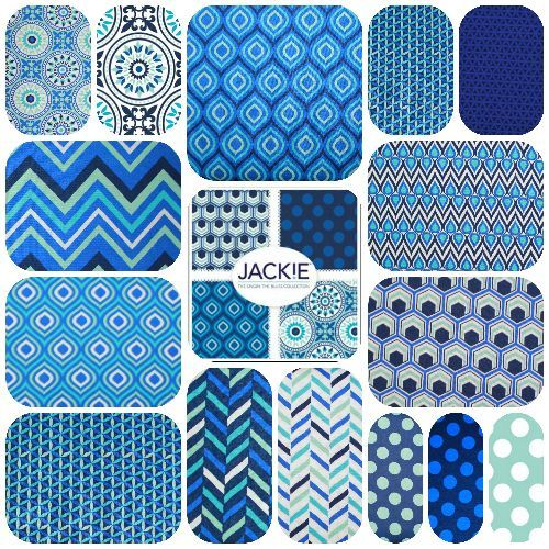 Jackie Singin Blues FQ Bundle Quilt fabric , By Jackie Savage For Camelot  Also sold individually by the meter at http://www.theozmaterialgirls.com/