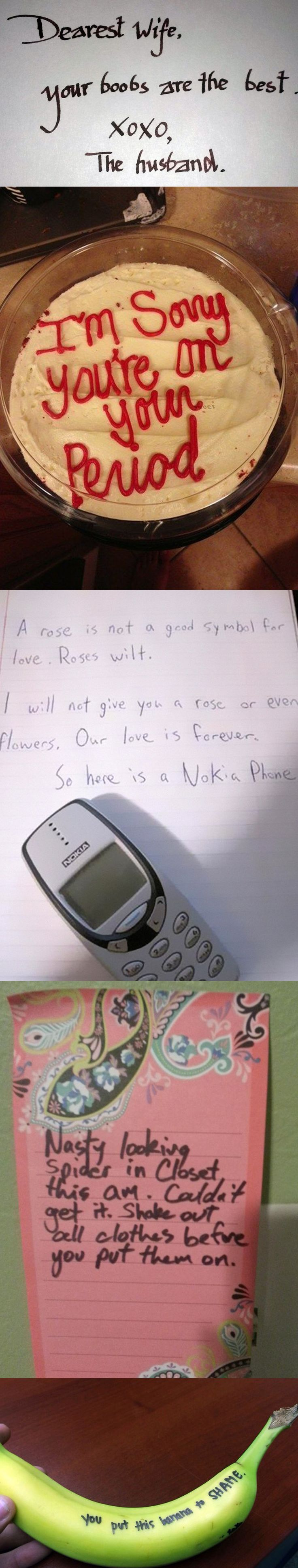 23 Love Notes That Show What Marriage Is Really Like - #1 #2 are totally my hubs, without a doubt!