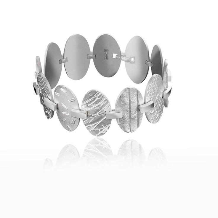 EXSAMPLES  Design Christophe Burger  / Silver Bracelet / Lapponia Jewelry / Handmade in Helsinki