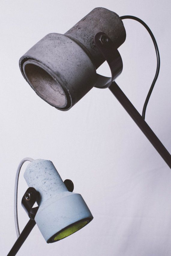 Concrete lamp / handmade concrete lamp shade / by crtlSolutions