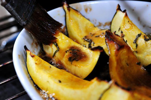 Sweet-Roasted Rosemary Acorn Squash Wedges | yummylicious ...