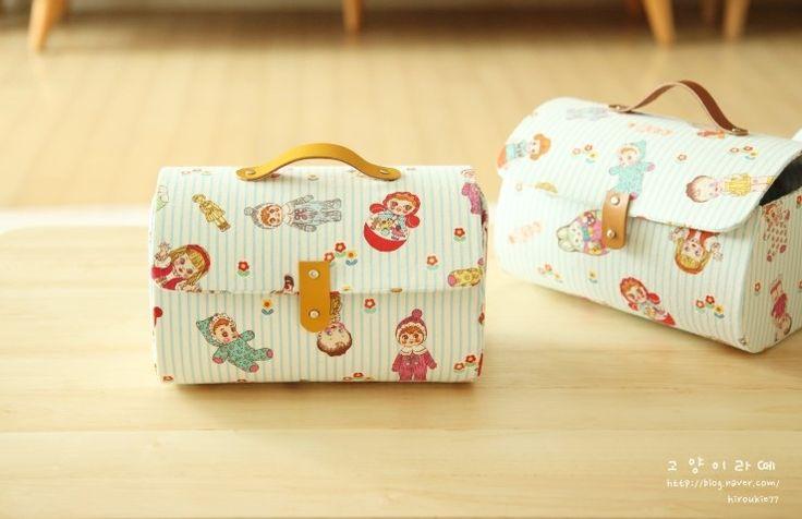 Boîte de rangement sac avec couvercle.  Pattern & PhotoTutorial