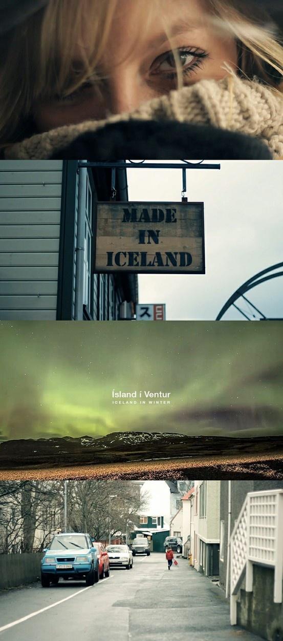 Ísland í Ventur   Iceland in Winter http://www.fubiz.net/en/2013/03/14/iceland-in-winter/