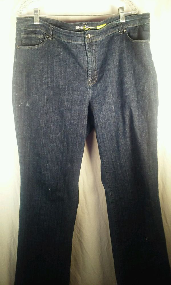 Style and Company Women's Medium Wash 18W Queen Size Blue Jeans - Style & Co.  #Styleco #Relaxed